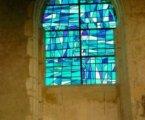 Gerd Fanslau, église d'Orrouer (28) détail d'une verrière, 2002
