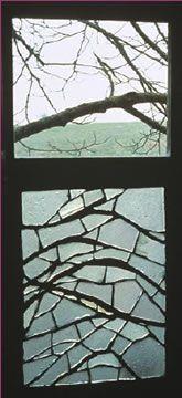 Vitrail à la branche d'amandier (Gers),1972.