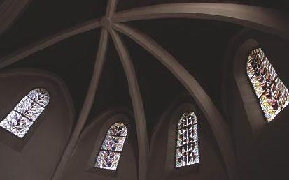 Église Saint-Jacques, Pechbusque (Haute-Garonne),1997 (200x80cm). Verrières du chœur.