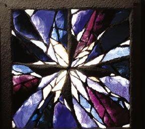 Croix d'Isaïe, 1978 Les joints font partie de la composition