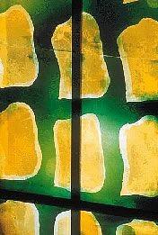 vitrail de Claude Viallat